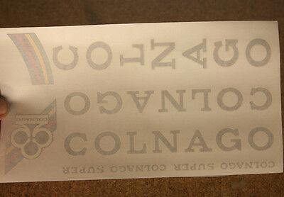 Vintage NOS - NEW black Colnago Super decals decal set