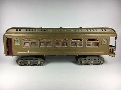 Lionel Train Lines Pre War Observation Car 490 Mojave Brown With Original Box