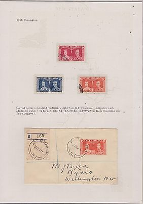 NEW ZEALAND-2 Stockc.w. S 25a/c + 2 letters-4969