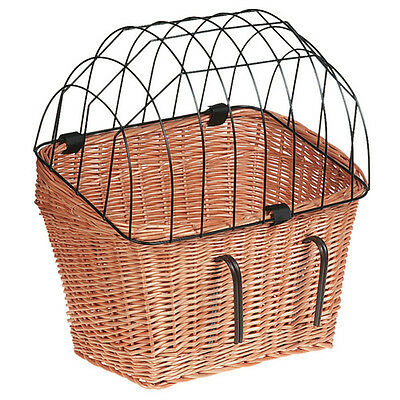 Karlie Flamingo Wicker Bicycle Basket with Grid, NEW
