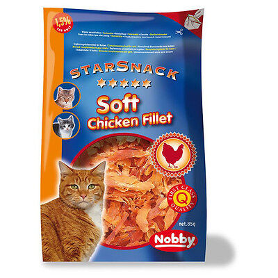 Nobby Cats starsnack Soft Chicken Fillet 85 g, NEW