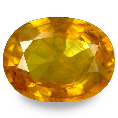 2.175Cts Fantastic Luster Yellow Natural Sapphire Oval Gemstones