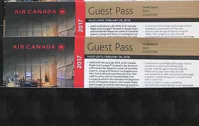 Air Canada Maple Leaf Lounge guest pass (valid until Feb 28, 2018)