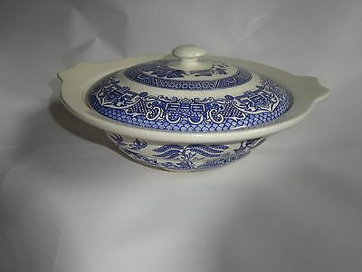 Old Willow English Ironstone Tableware Limited Bowl Genuine Hand Engraving