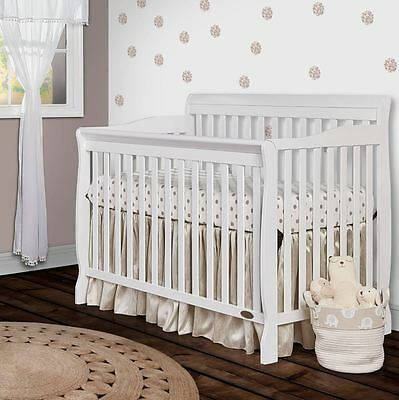 Baby Bed Frame Infant Crib Convertible White Toddler Daybed Full Size Nursery