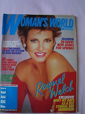 Vintage Woman's World - March 1988 - Raquel Welch - Ex.condition