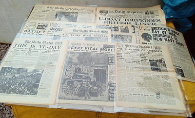 Box Of British WW2 Newspapers - All Believed To Be Genuine