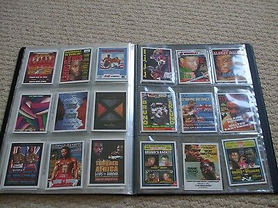 Boxing programme card collection