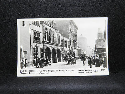 Old Leicester - Fire Brigade In Rutland St. - Collectorcard C1240 - RP