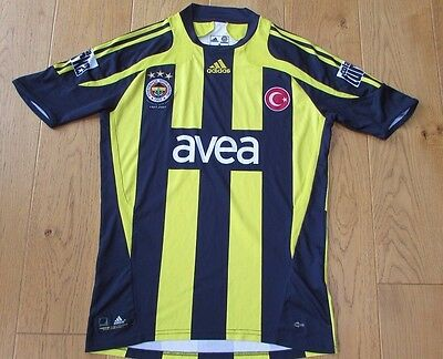 Fenerbache Home Football Shirt Adidas Size Small In Good Condition