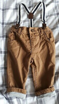 baby boy trousers with braces 3-6 months
