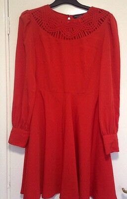 Ladies Dress Bundle Size 12 Summer Asos Dorothy Perkins Orange& White