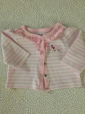 Newborn Infant Sweater. Size 5-8 lbs. First Moments Label. 100% Cotton  sc