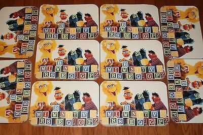 lot of 10 sesame street placemats daycare supplies 1992
