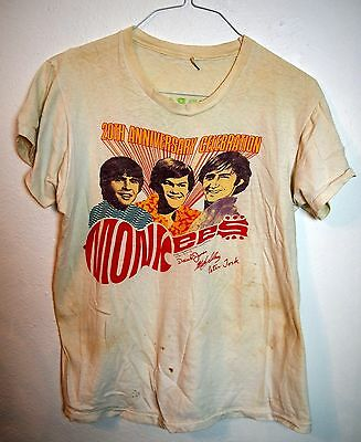 Vintage 80's Monkees T Shirt 20th Anniversary Reunion Concert Herman's Hermits M