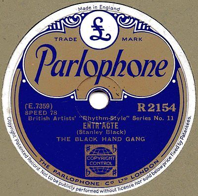 "78er British Jazz 1935 The Black Hand Gang ""Limehouse Blues"""