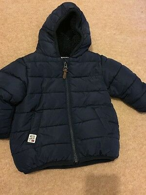 Boys Next Navy Padded Coat Age 6-9 Months