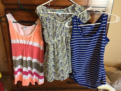 Lot Of 3 Summer Maternity Shirts Old Navy And Motherhood Maternity Xs And Small
