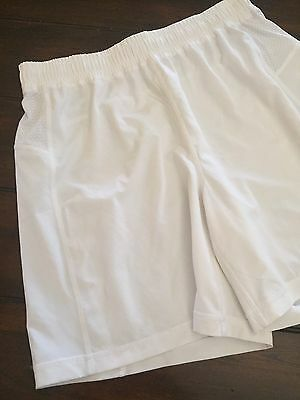 Ivivva By Lululemon Loss Fit Long White No Liner Shorts Youth Sz 14