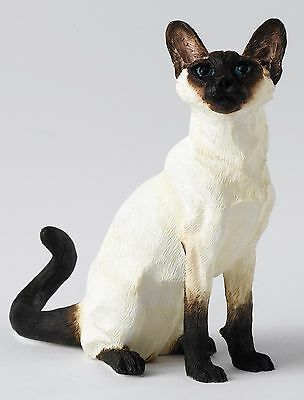 bordure fin Arts Studio Animal Siamois Chat assis Figurine ornement 10cm a24815