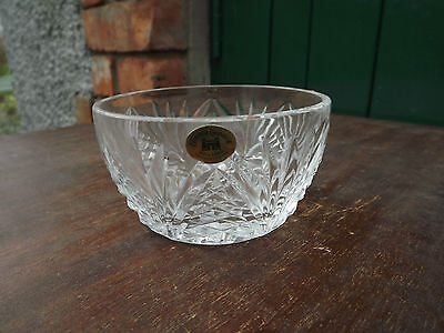Tyrone Crystal  small Bowl Stunning Design & fine cut Green label attached