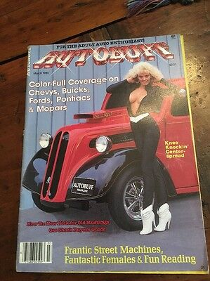 Vintage Autobuff Adult Mens Magazine Pin-Up March 1985 Hot Rod Muscle Car #21