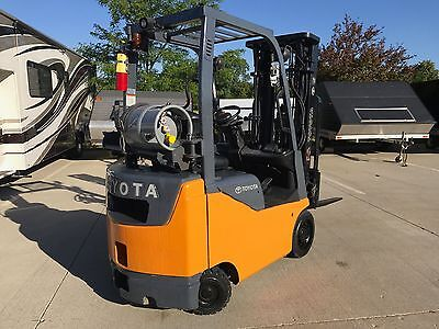 2008 Toyota 3000 Pound Forklift(s) LPG/Propane-WE WILL SHIP--Lifts over 15 feet!