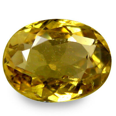 1.355Cts Fantastic Luster Yellow Natural Sapphire Oval Gemstones