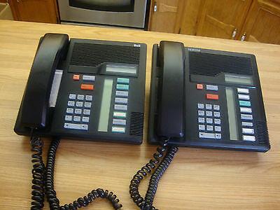 Two Nortel Bell And Norstar M 7208 Business Black Business Phone Made In Canada