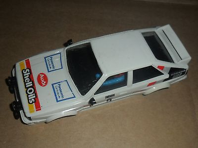 Scalextric rare vintage Audi Quattro rally car shell # 5 SUPERB - complete