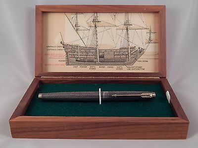 RARE 1965 Parker 75 Sterling Silver Spanish Treasure Fleet Fountain Pen - 1715 -