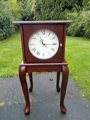 Vintage Style Side Table/Cuboard With Quartz Clock.
