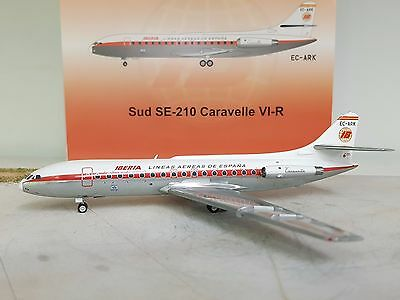 SE 210 Caravelle VI-R Iberia EC-ARK Ref: ARD2018 with a stand aie-cast in 1/200