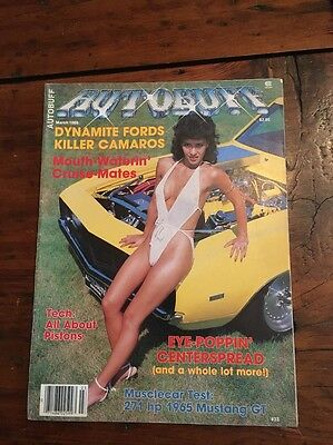 Vintage Autobuff Adult Mens Magazine Pin-Up March 1986 Hot Rod Muscle Car #33