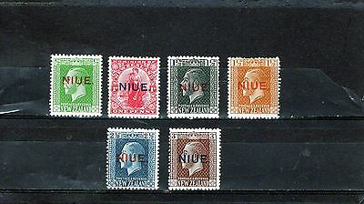 NIUE, nice group of KGV O/P issue on NZ stamps, mainly Mtd MINT
