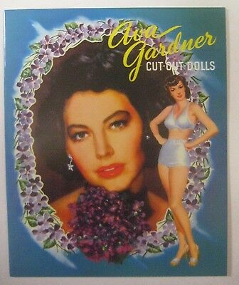 40's Movie Star AVA GARDNER Paper Dolls Book UNCUT Whitman Publishing 1952 Repro