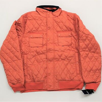 NWT - Men's Chaps Classic-Fit Quilted Jacket - Bright Safety Orange - L or XL