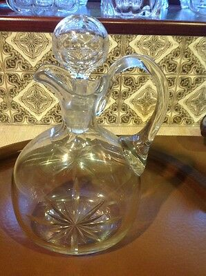 Cut Glass Decanter. Early Beautiful Quality