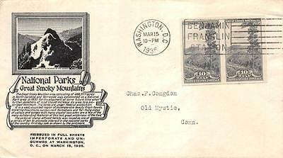 765 10c Imperforate Smokey Mountains, Anderson Cachet [E234282]