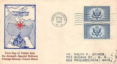 771 16c Imperf Air Mail Special Delivery, Ed Kee Cachet [E234228]