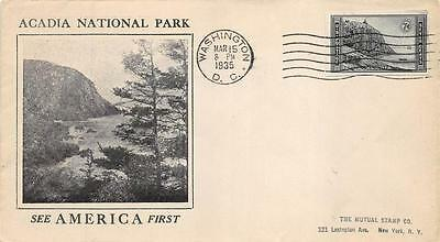 762 7c Imperforate Acadia, First Day Cover Cachet [E234273]