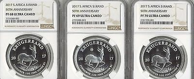 2017 Proof Silver Krugerrand NGC PF68-PF69- PF70 ULTRA CAMEO SET