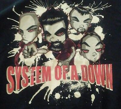 System Of A Down two sided shirt L