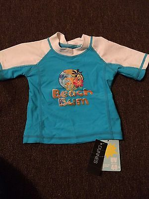 Baby Boys Uv Protection Top Swimwear/ Beach Wear 3-6 Months New With tags