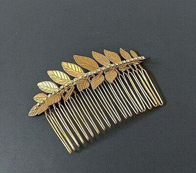 Gold Hair Comb Wedding Hair Accessories Leaf Motif Barrette Bridal Shower Gifts