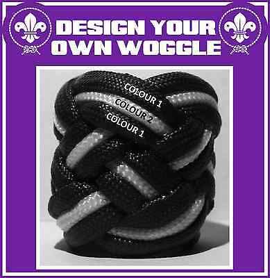 Turks Head Boy Scout Woggle - Large Paracord Neckerchief Slide - Design Your Own