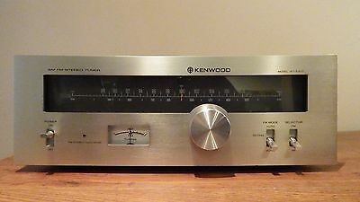 Vintage Kenwood KT-5300 AM/FM Stereo Tuner - Cleaned and Tested ok!