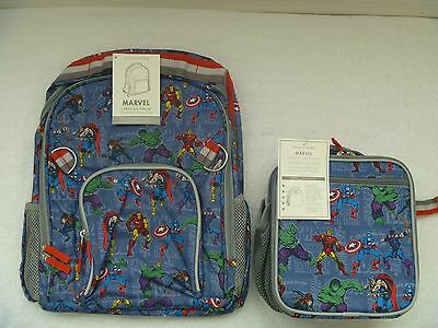Boys Pottery Barn Kids MARVEL Large Backpack and Classic Lunch Bag Box