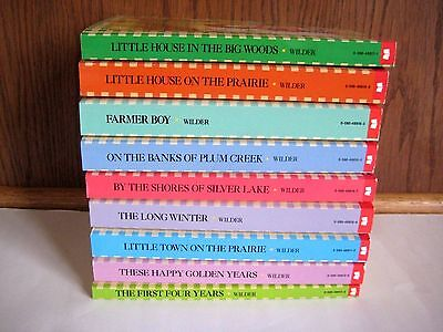 Complete Set of all 9 Books in the Original Little House on the Prairie Free S/H