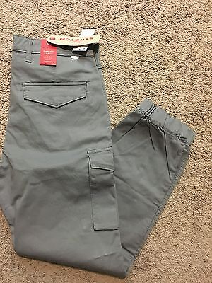 NWT Levi's Men's Banded Cargo Slim Fit Jogger Pants Gray 36X34 MSRP$69.50